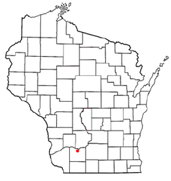 Location of Wyoming, Wisconsin