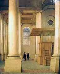 Interieur van de Nieuwe Kerk te Haarlem