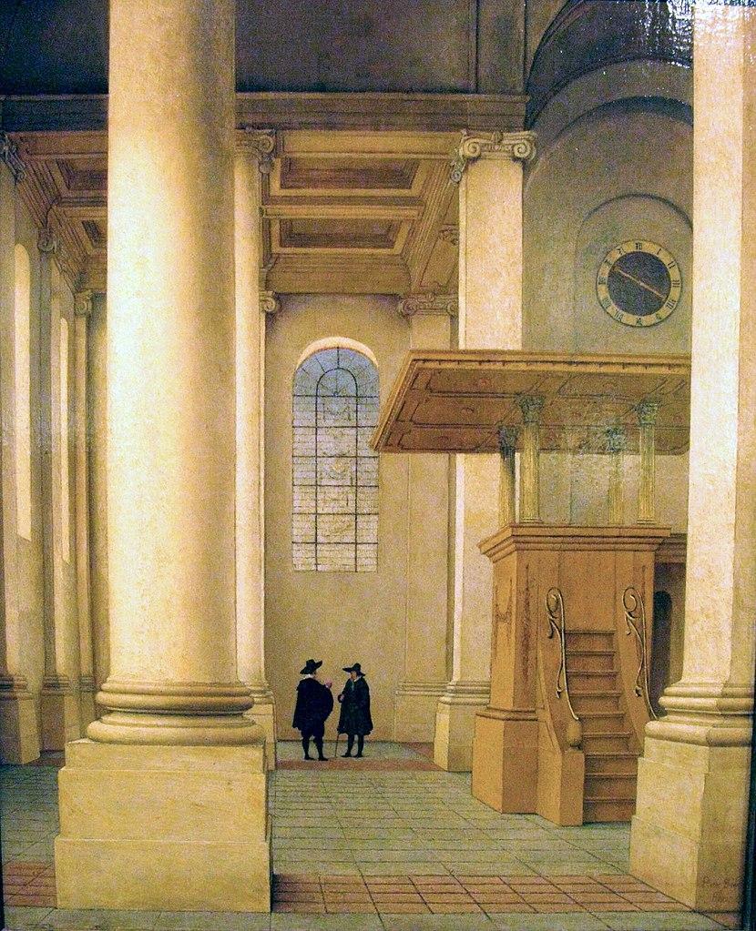 filewlanl andrevanb interieur van de nieuwe kerk te haarlem pieter saenredam 1655jpg