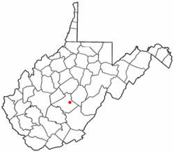 Location of Craigsville, West Virginia