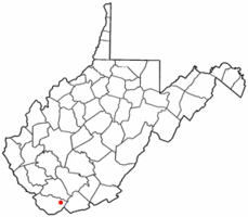 Location of Keystone, West Virginia