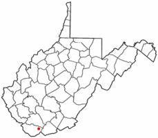 Location of Keystone, West Virginia