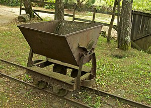 A mining cart, Le Regourdou, Montignac, Dordog...