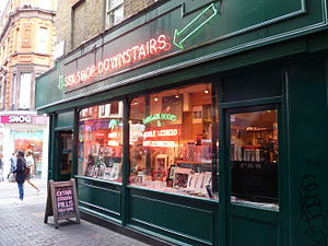 Walker's Court - Soho's Original Book Shop on the corner with Brewer Street.