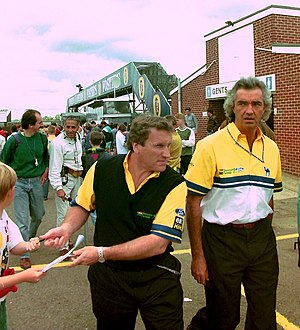 Tom Walkinshaw - Walkinshaw (left) with Flavio Briatore at the 1993 British Grand Prix