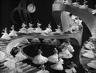 "Gold Diggers of 1933 - Busby Berkeley's ""Waltz of the Shadows"" production number, from the trailer for the film"