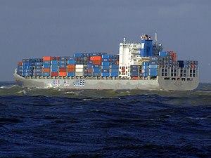 Wan Hai 503 p6, leaving Port of Rotterdam, Holland 21-Jan-2007.jpg