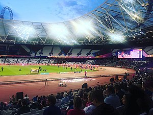 2017 World Para Athletics Championships - A view of the stadium during the evening session of 21 July