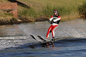 Water skiing - Water skiing on the Yarra River in Melbourne