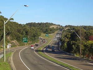 Princes Motorway - Image: Waterfall F6 Southern Freeway