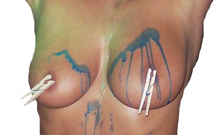 wax Breast torture