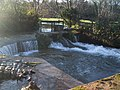 Weir, Washford River, Kentsford Farm - geograph.org.uk - 1708246.jpg