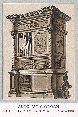 Welte-Mignon - Image: Welte Orchestrion 1845