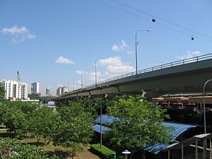West Coast Highway, Singapore - West Coast Highway viaduct, near HarbourFront Centre.