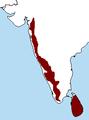 Western Ghats - Sri Lanka MAP.png
