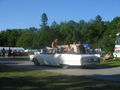 White Cadillac with flames at Power Big Meet 2005 2.jpg