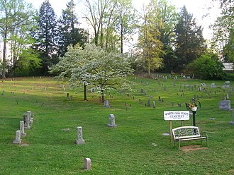 Gatlinburg, Tennessee - White Oak Flats Cemetery. Gatlinburg was originally known as White Oak Flats, still remembered in a few places in the resort town.