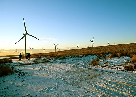 Whitelee Wind Farm is the largest onshore wind farm on the British Isles.
