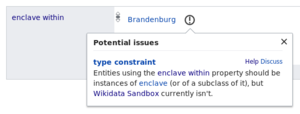 Screenshot of updated Constraint Violation Report in Wikidata]