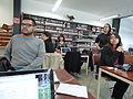 Wikipedistas trabajando en el Editatón 'Wikipedia ama el cine' 04.JPG