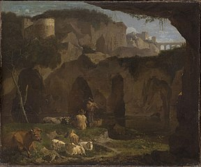 Italian Landscape with Two Shepherds in a Ravine