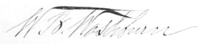 William B. Washburn - Image: William Washburn Signature
