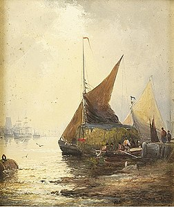 William Anslow Thornley - Low tide in the estuary.jpg