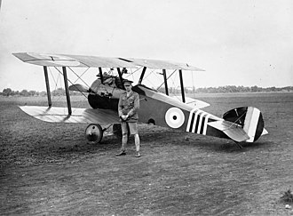 William George Barker - Barker with his Sopwith Camel, his favourite aircraft
