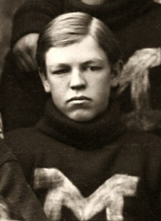 Bill Morley - Morley at age 19 as a member of the 1895 Michigan football team