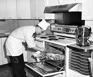 Wing Luke - Image: Wing Luke in kitchen, circa 1963