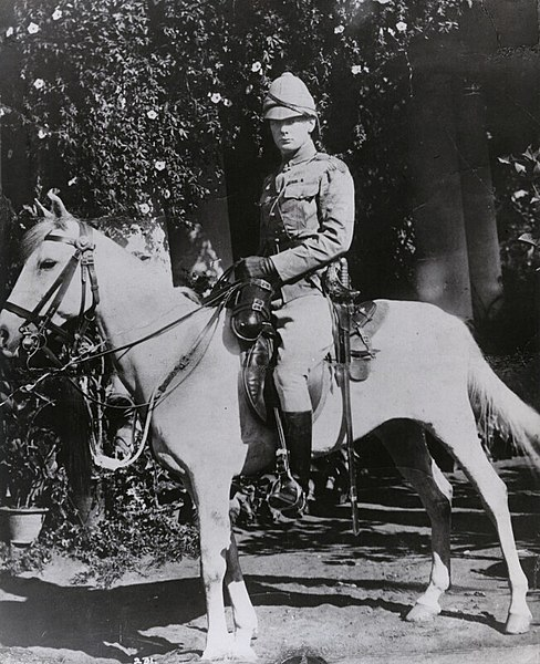 English: Second-Lieutenant Winston Churchill in the 4th Queen's Own Hussars in India, 1896