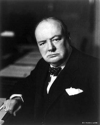 Founding fathers of the European Union - Image: Winston Churchill cph.3b 12010