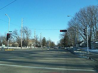 Wisconsin Highway 21 - Eastern terminus at U.S. Route 45