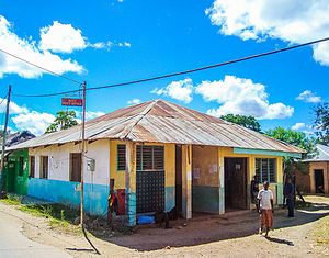Witu, Kenya - The Post Office at Witu, on the way to Lamu