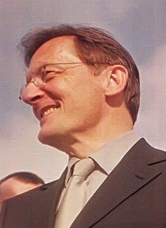 Austrian legislative election, 1999 - Image: Wolfgang Schüssel in Fairness for Austria 2000 (cropped)