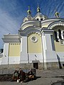 Women Vendors outside Cathedral - Zhytomyr - Polissya Region - Ukraine (27041109982).jpg