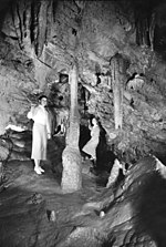 Women at the caves in the 1940s