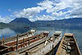 Wooden boats at Lugu Lake (Luguhu Nature Reserve with WDPA ID 95771).jpg
