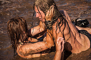 Woodstock Festival (Poland) - Mud baths are part of festival tradition