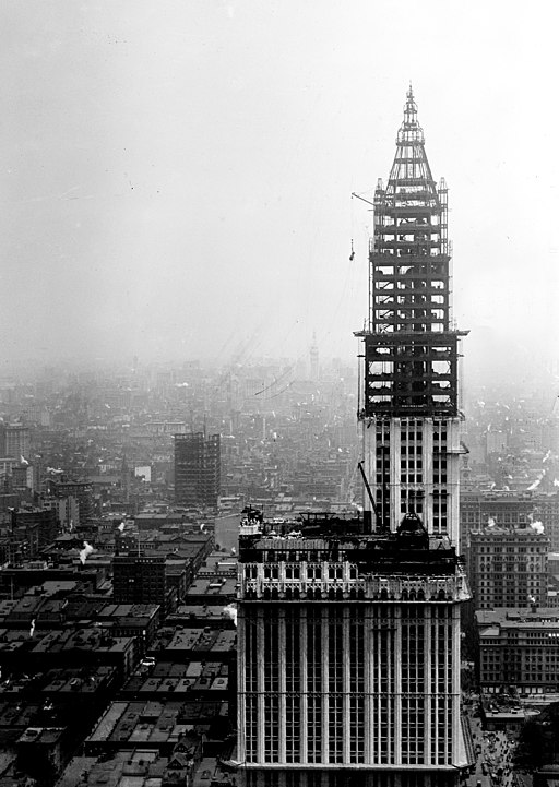 Woolworth Building Under Construction Restored