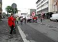 """Worms- Bahnhofstraße- Kundgebung eines Streiks der Vereinten Dienstleistungsgewerkschaft (""""ver.di"""") 26.5.2009.jpg"""