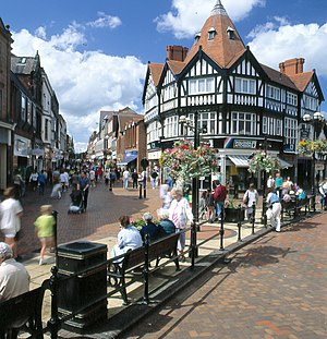 History of Wrexham - Wrexham town centre