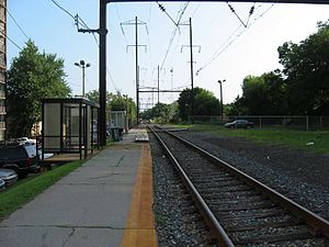 Cynwyd Line - The Cynwyd Line at Wynnefield Avenue station in July 2005