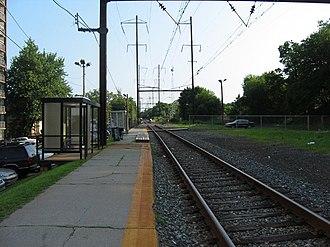 Cynwyd Line - The Cynwyd Line at Wynnefield Avenue station in July 2005