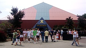 X (roller coaster) - X is enclosed in a large pyramid-shaped building