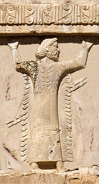 Libya - Libyan soldier of the Achaemenid army, circa 480 BCE. Xerxes I tomb relief.