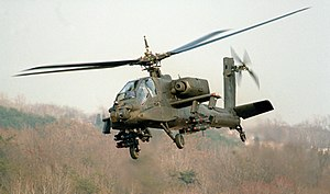 Boeing AH-64 Apache - A YAH-64A prototype in 1982
