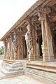 Yali pillared entrance to mantapa at Pattabhirama temple in Hampi.JPG