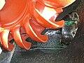Yanaike I power station old turbine nozzle.jpg