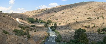 "English: The Jordan River and ""Kfar-Hanas..."